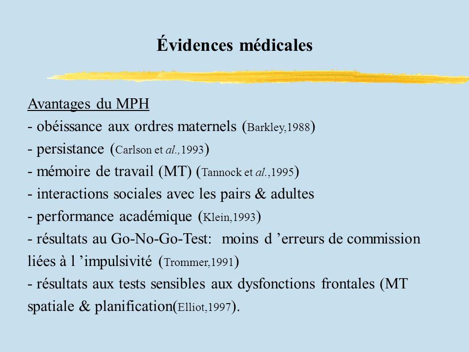 Évidences médicales Avantages du MPH
