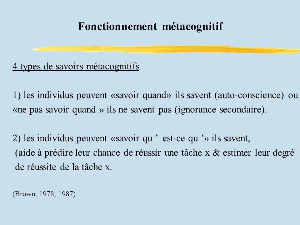 Fonctionnement métacognitif