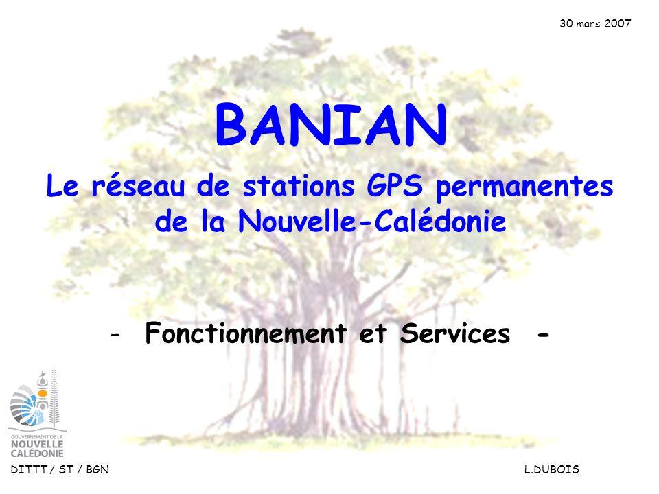 BANIAN Le réseau de stations GPS permanentes de la Nouvelle-Calédonie