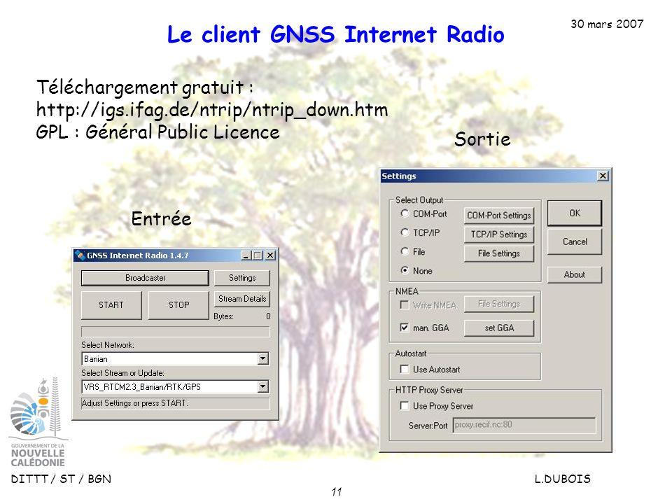 Le client GNSS Internet Radio