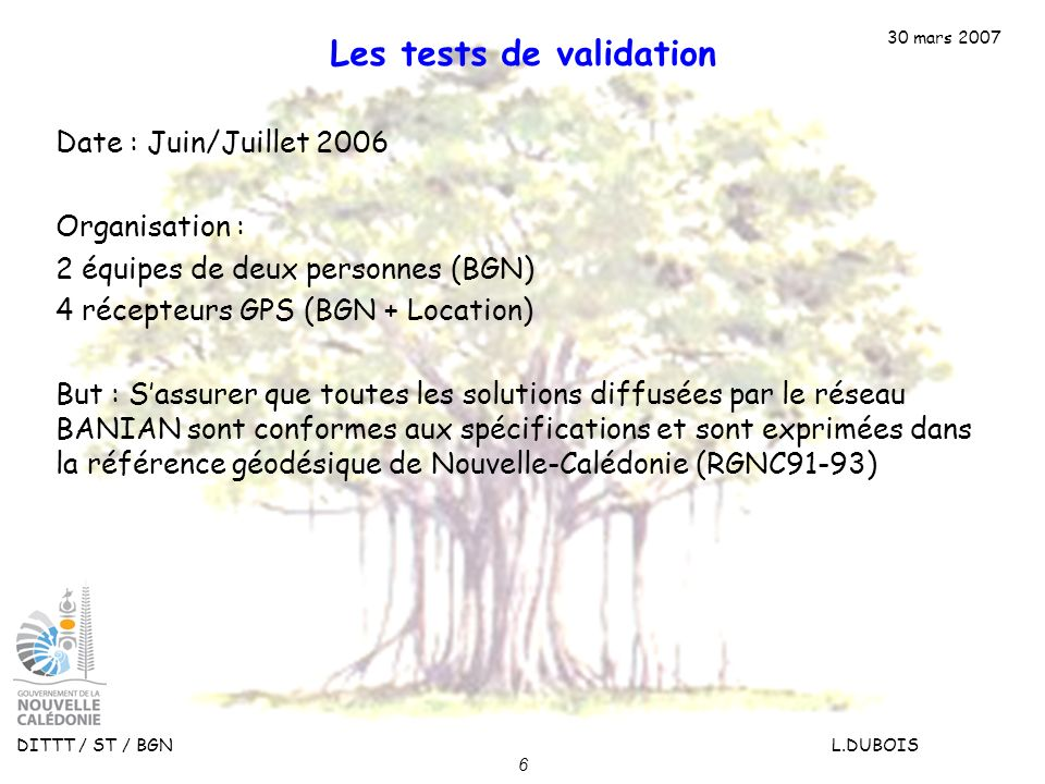 Les tests de validation