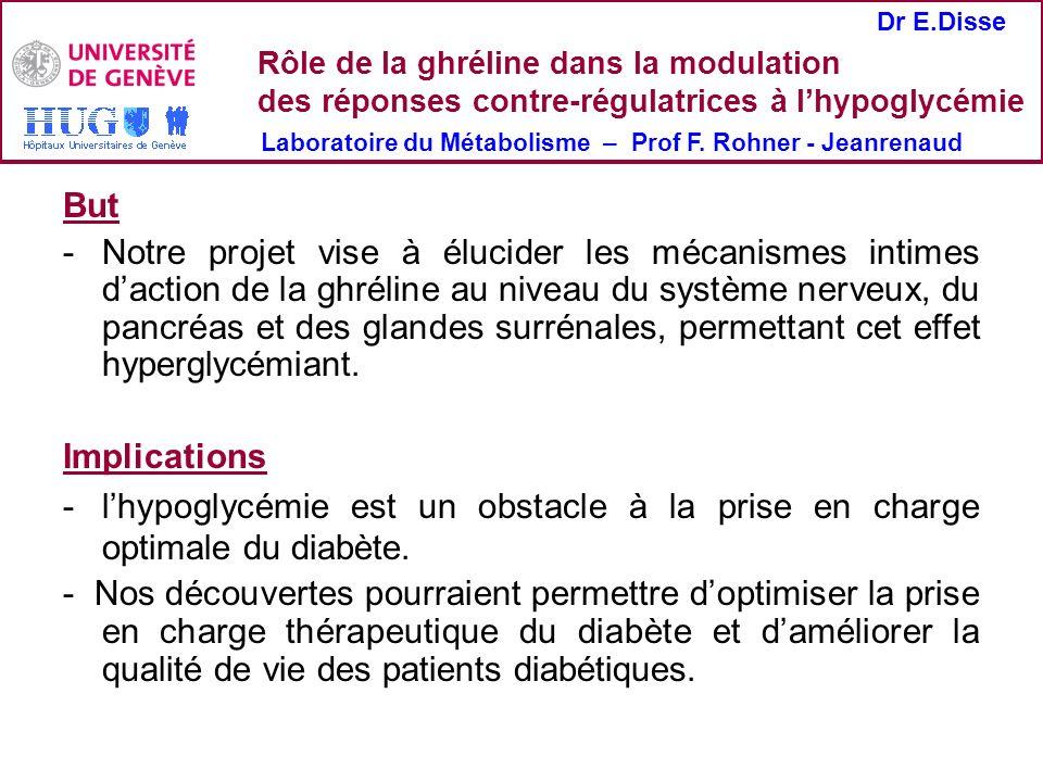 Rôle de la ghréline dans la modulation des réponses contre-régulatrices à l'hypoglycémie
