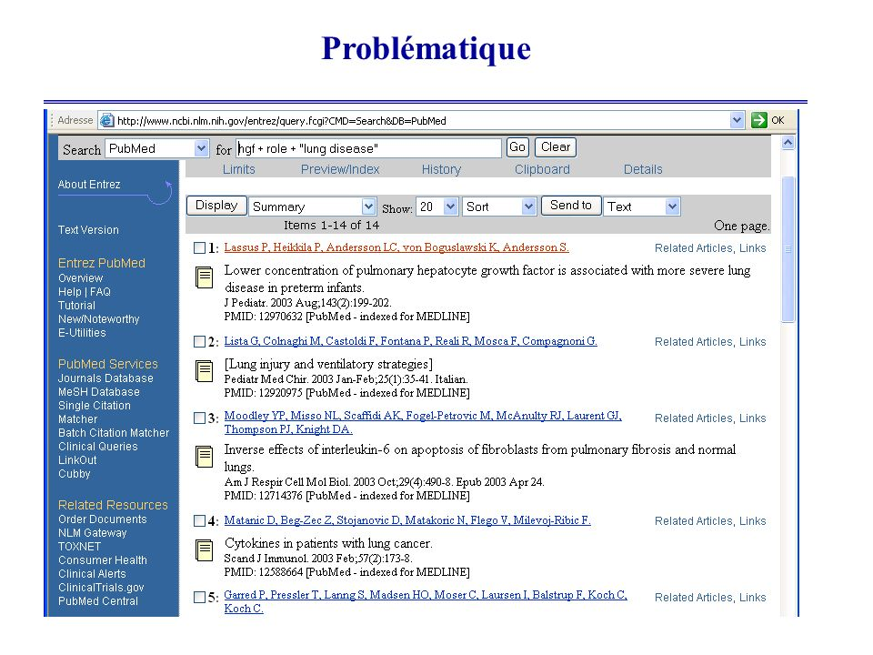 Problématique Prolifération incessante des documents sur le web