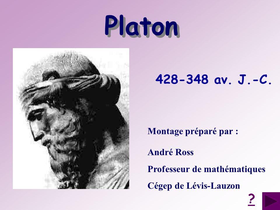 Platon 428-348 av. J.-C. Montage préparé par : André Ross
