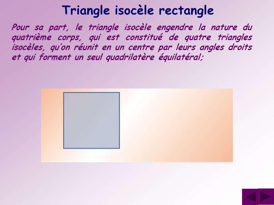 Triangle isocèle rectangle