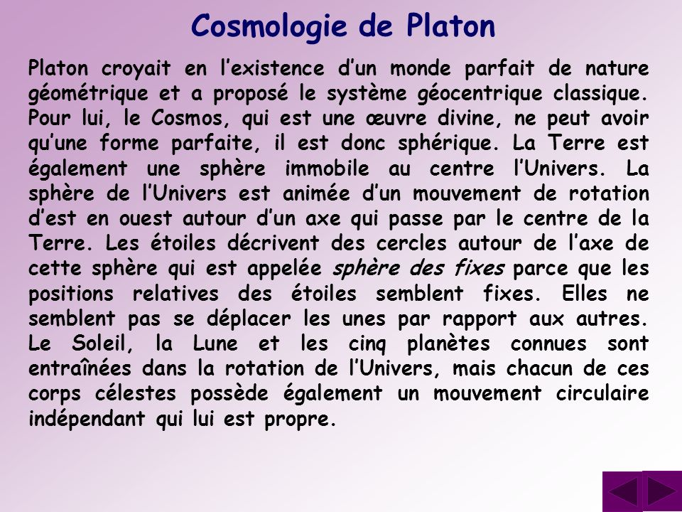 Cosmologie de Platon