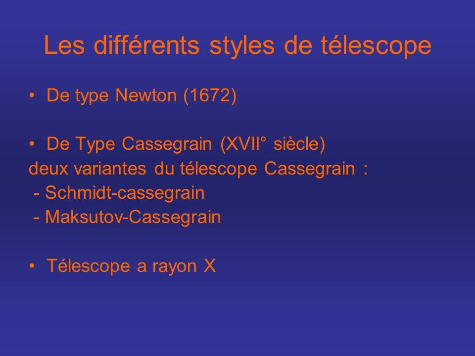 Les différents styles de télescope