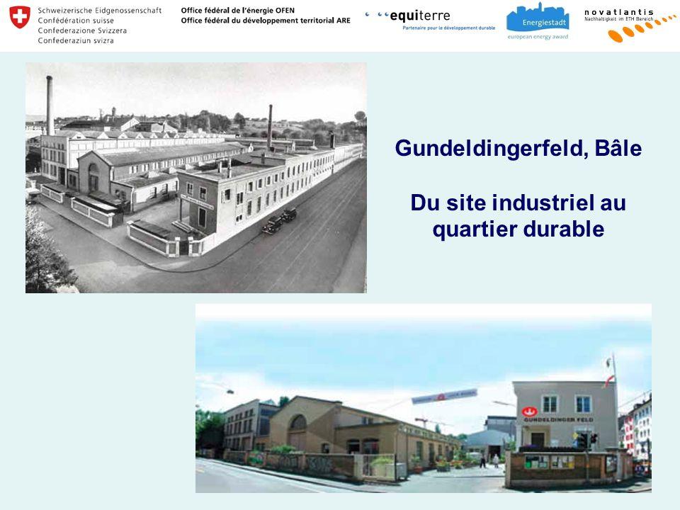 Gundeldingerfeld, Bâle Du site industriel au quartier durable