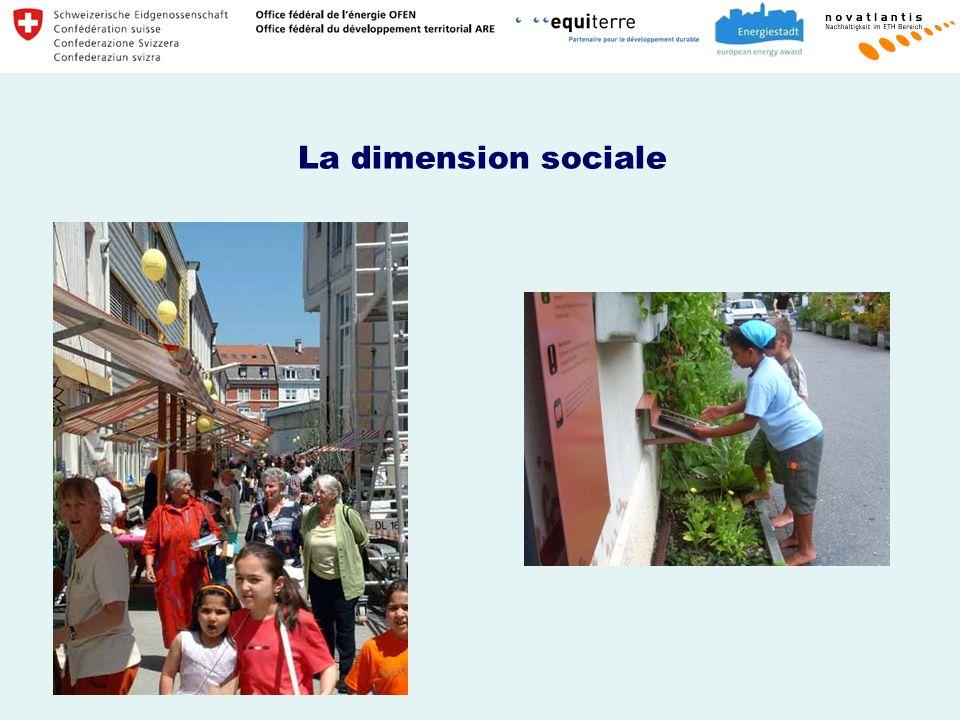 La dimension sociale