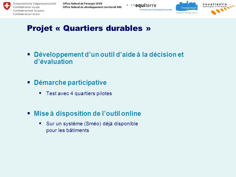 Projet « Quartiers durables »