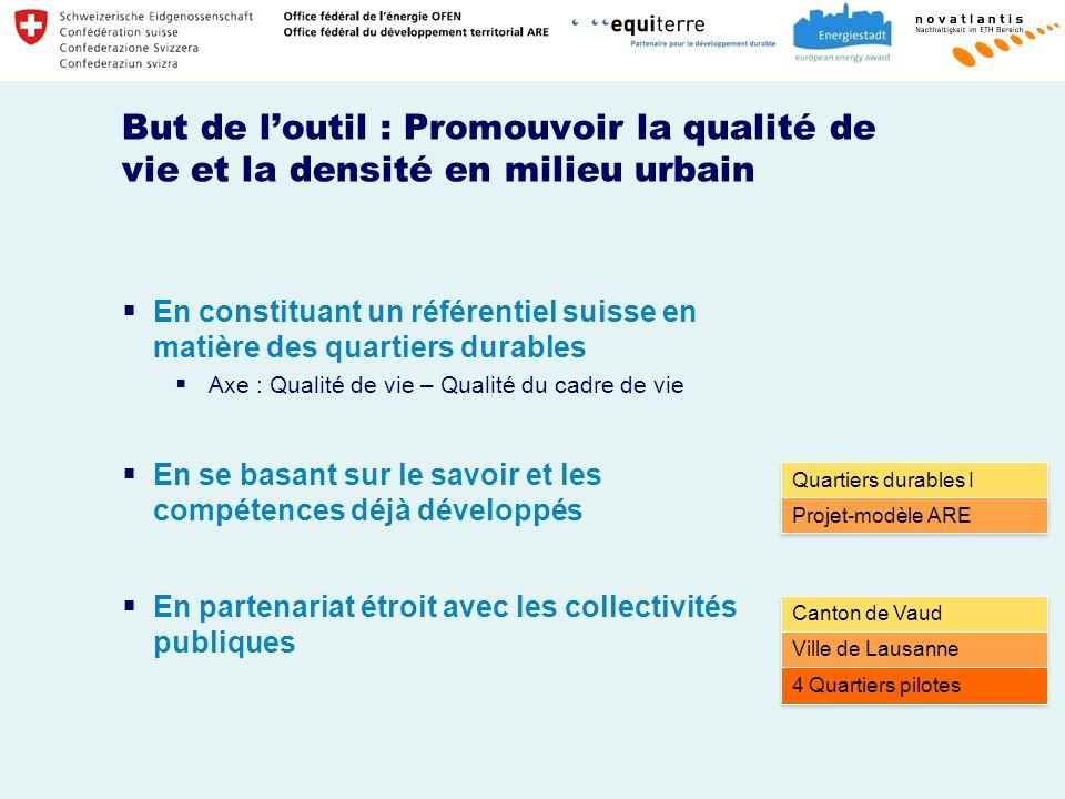 But de l'outil : Promouvoir la qualité de vie et la densité en milieu urbain