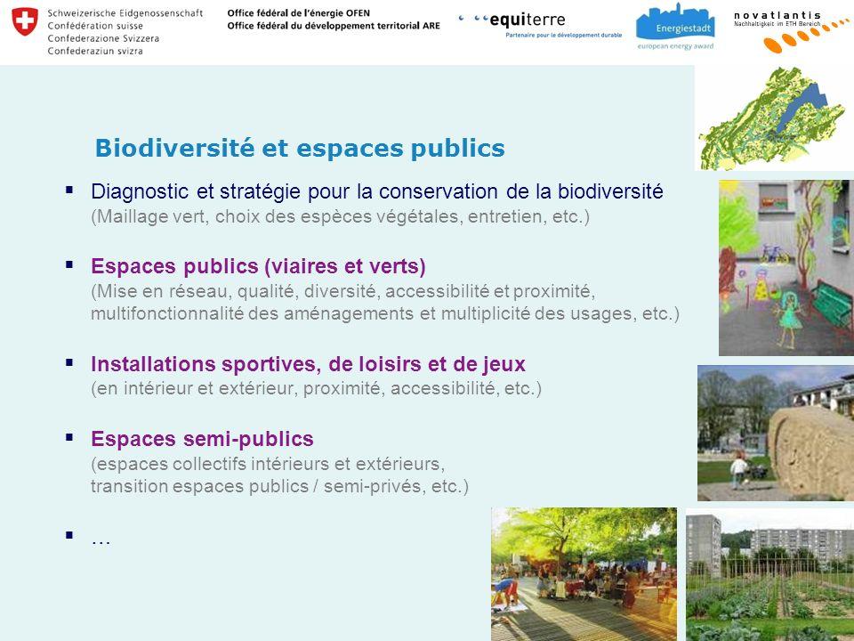 Biodiversité et espaces publics