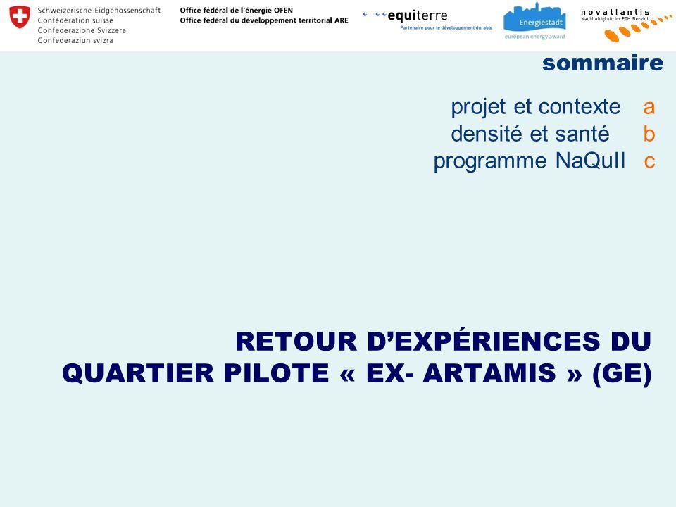 RETOUR D'EXPÉRIENCES DU QUARTIER PILOTE « EX- ARTAMIS » (GE)