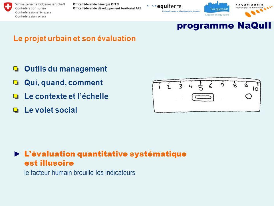 programme NaQuII Le projet urbain et son évaluation
