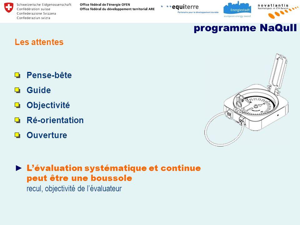 programme NaQuII Les attentes Pense-bête Guide Objectivité