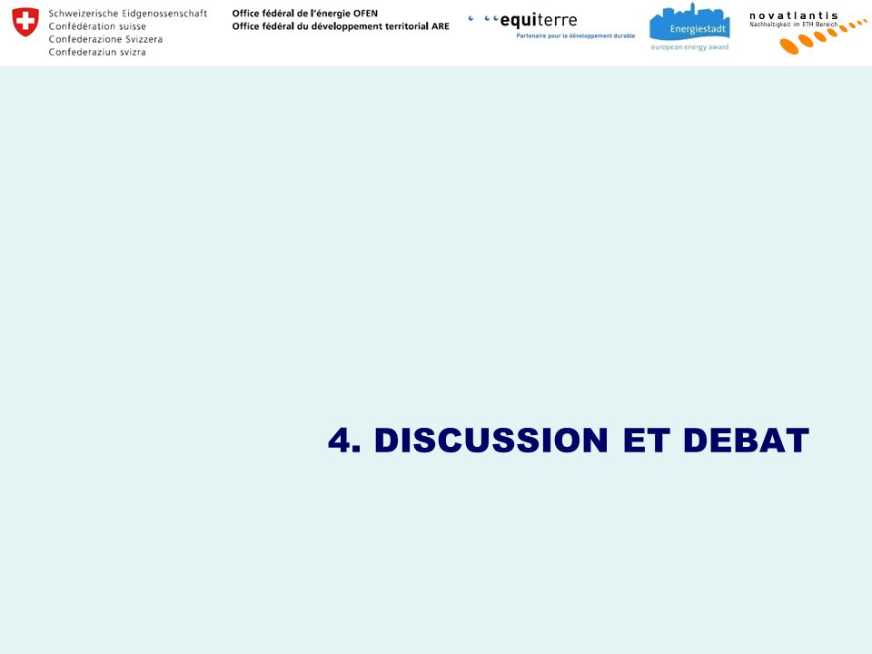 4. DISCUSSION ET DEBAT