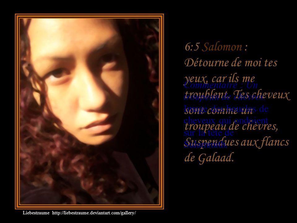 6:5 Salomon : Détourne de moi tes yeux, car ils me troublent
