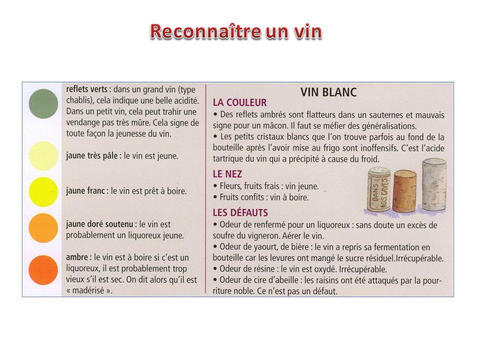 Reconnaître un vin