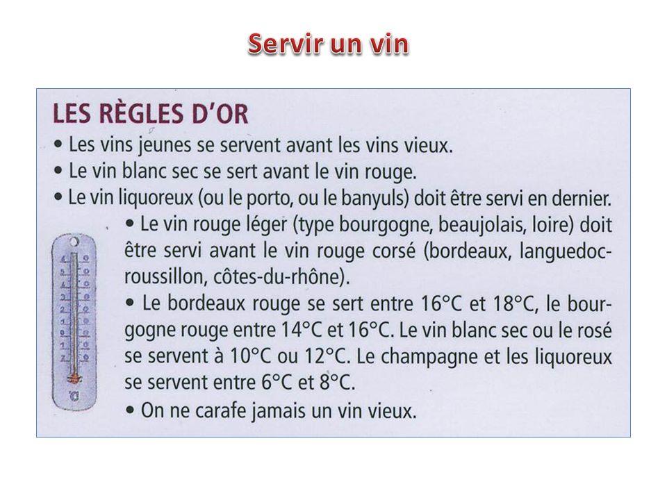 Servir un vin