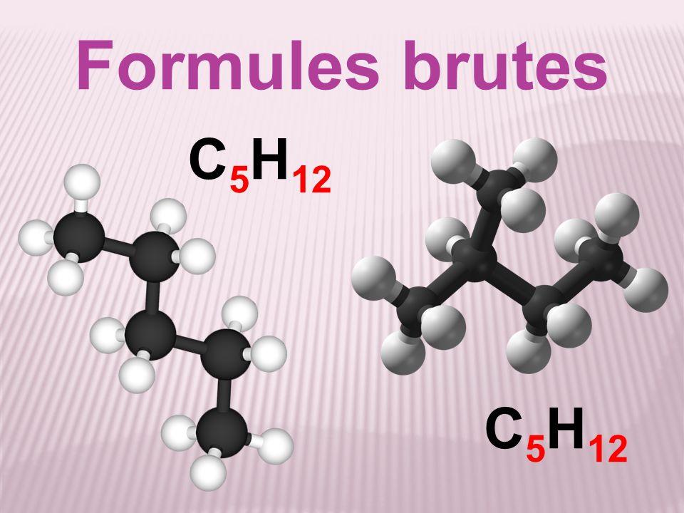 Formules brutes C5H12 C5H12