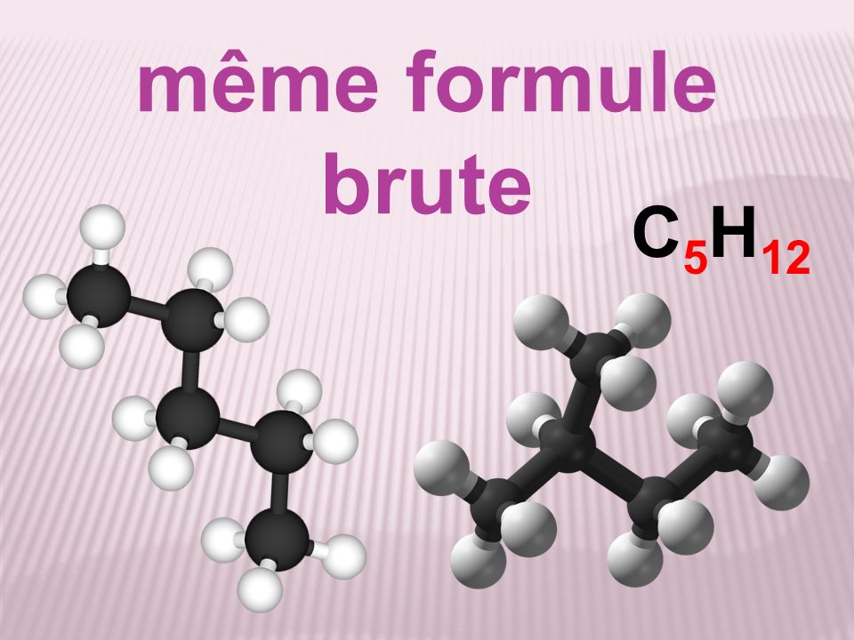 même formule brute C5H12