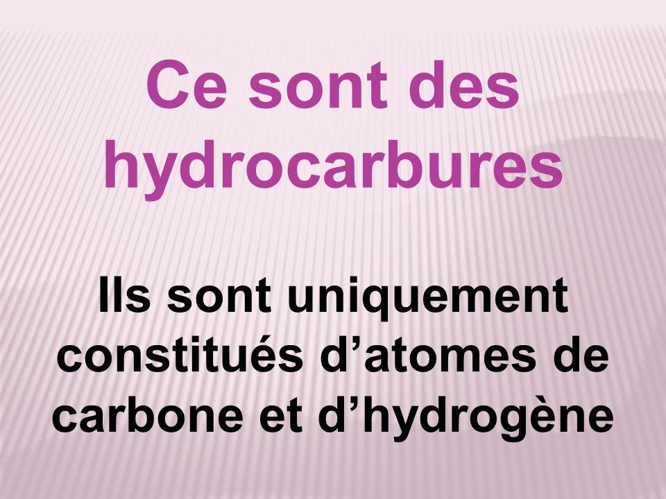 Ce sont des hydrocarbures