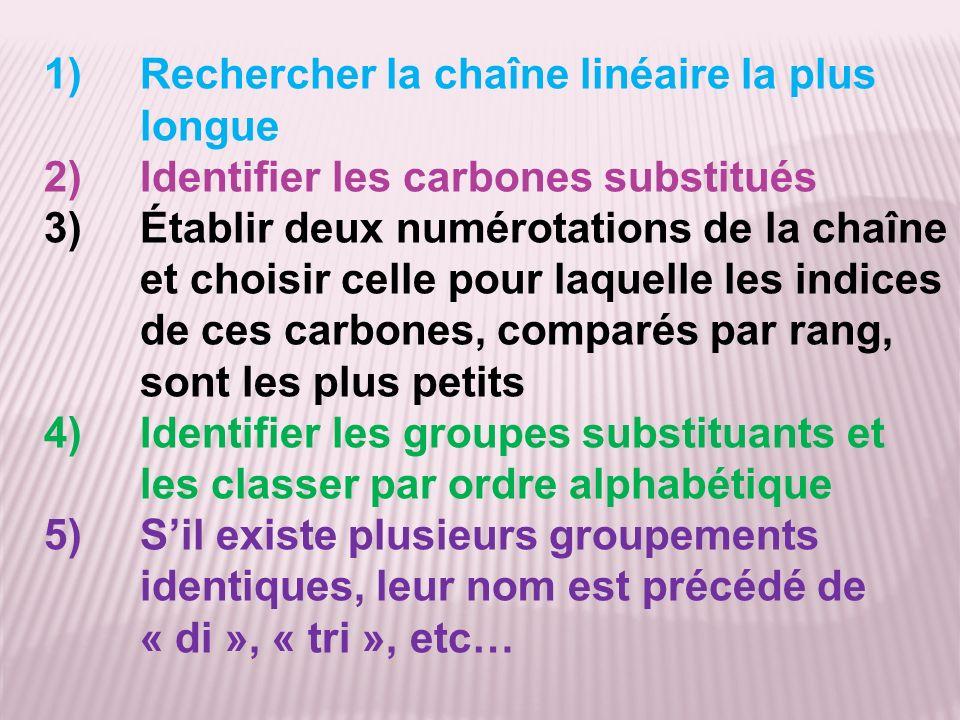 Rechercher la chaîne linéaire la plus longue