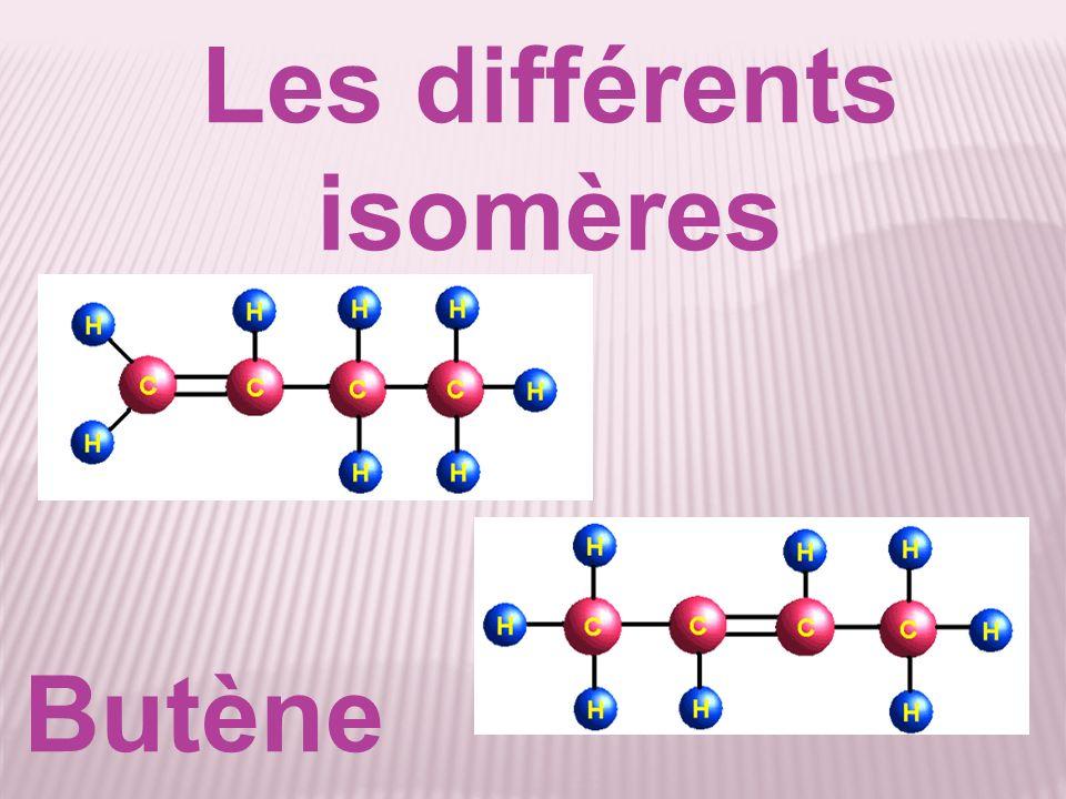 Les différents isomères