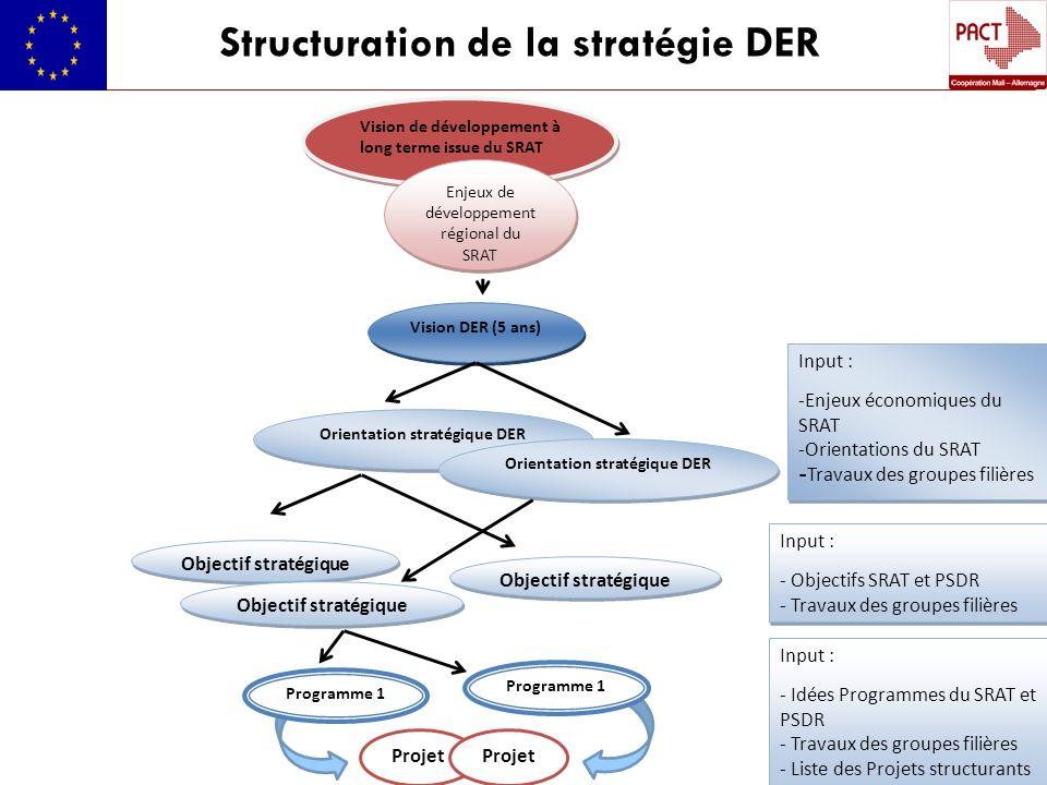 Structuration de la stratégie DER