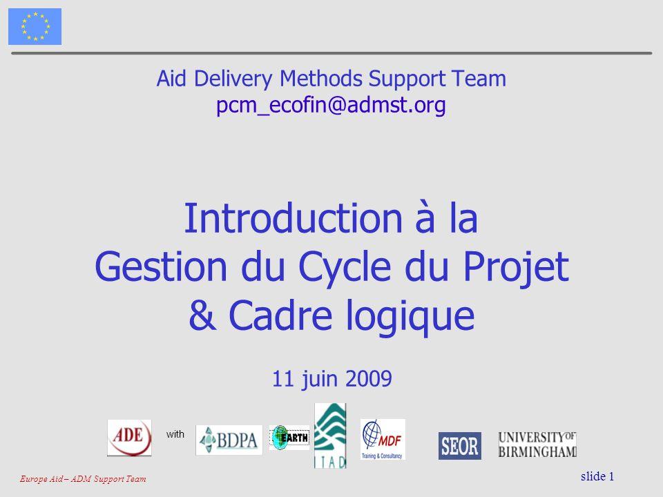 Gestion du Cycle du Projet & Cadre logique