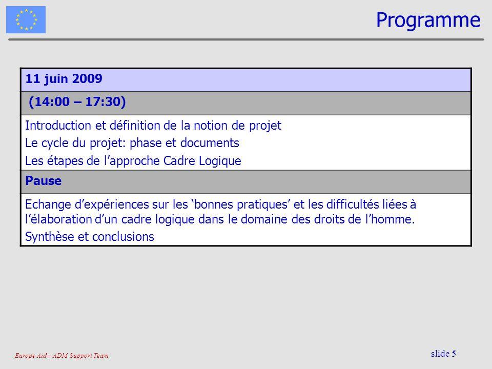 Programme 11 juin 2009. (14:00 – 17:30) Introduction et définition de la notion de projet. Le cycle du projet: phase et documents.