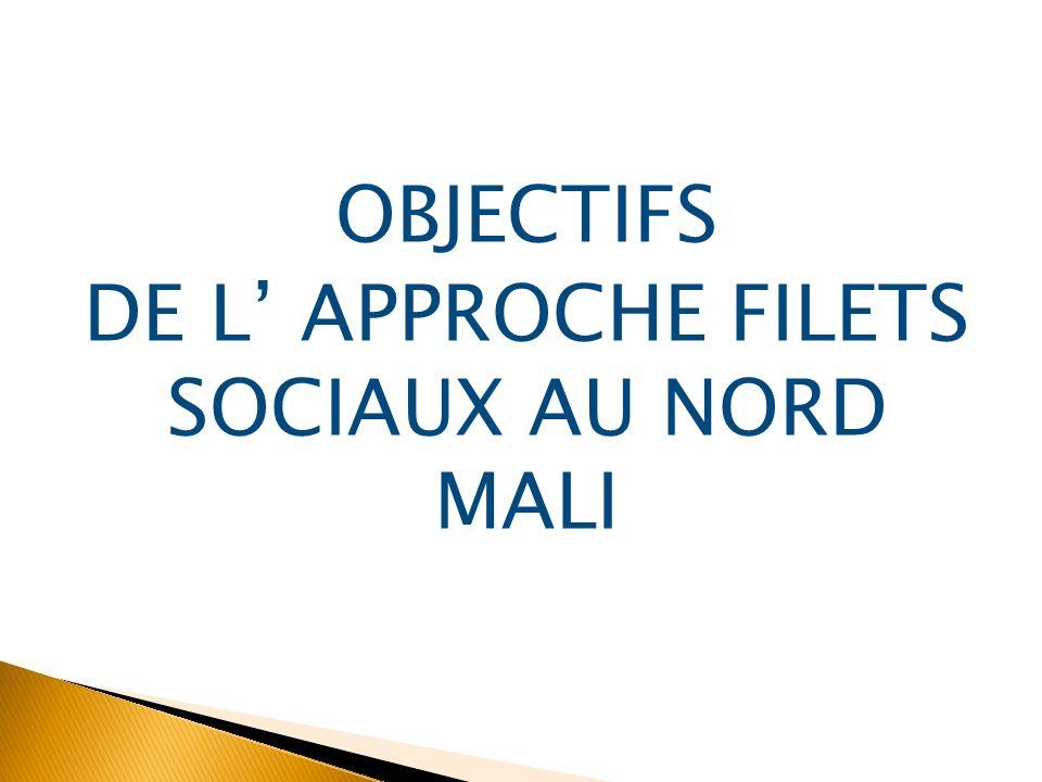 OBJECTIFS DE L' APPROCHE FILETS SOCIAUX AU NORD MALI