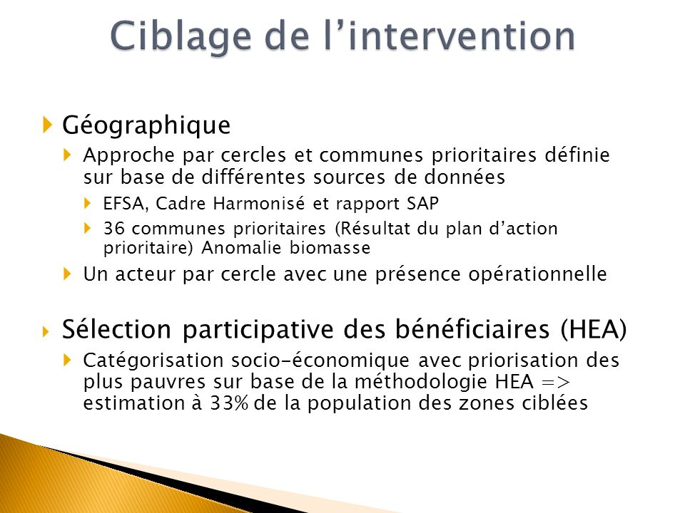 Ciblage de l'intervention