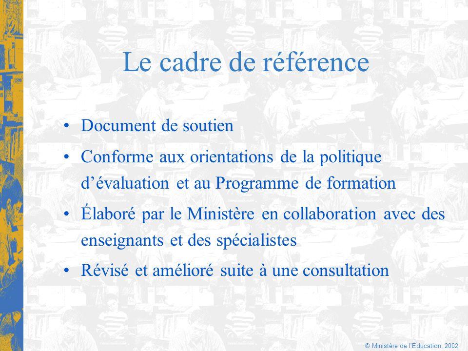 © Ministère de l Éducation, 2002