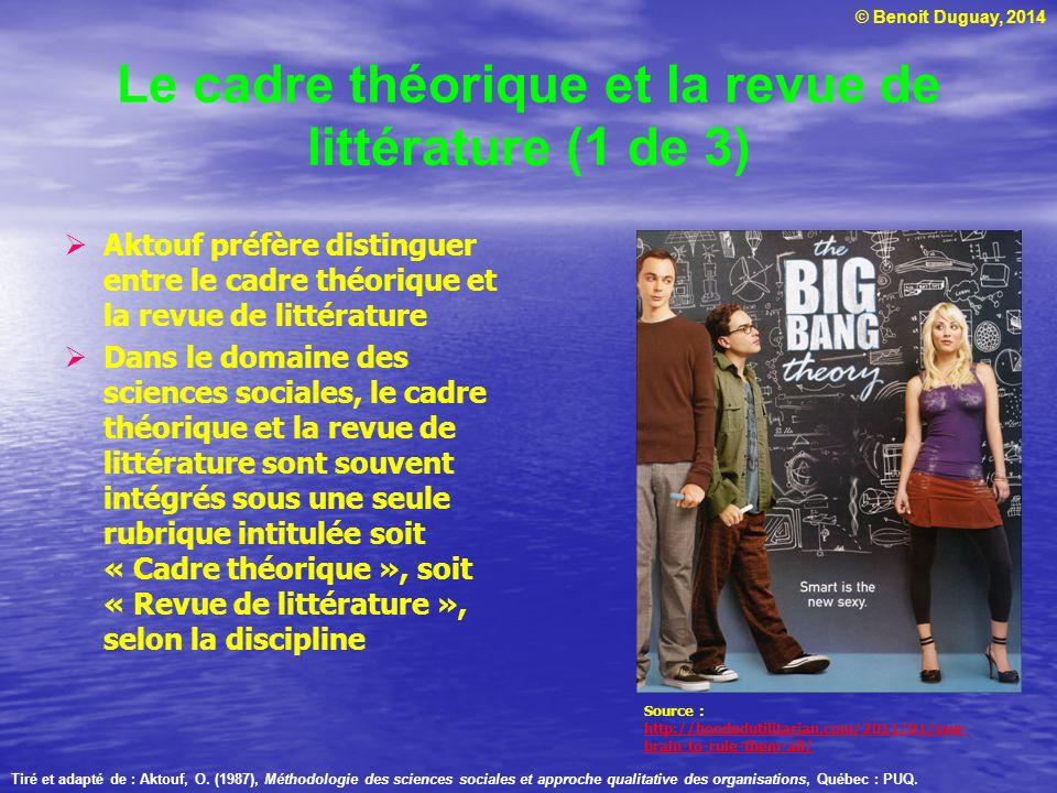 Le cadre théorique et la revue de littérature (1 de 3)