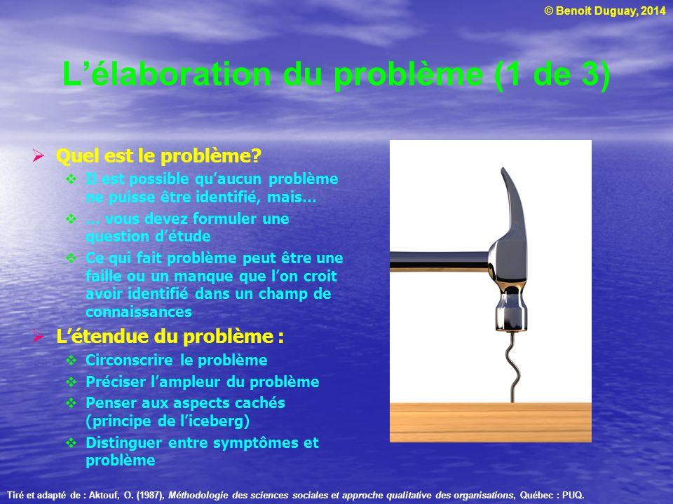 L'élaboration du problème (1 de 3)