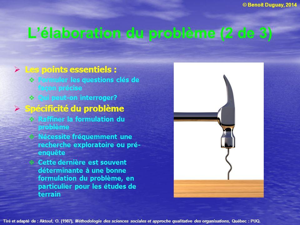 L'élaboration du problème (2 de 3)