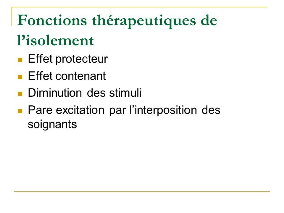 Fonctions thérapeutiques de l'isolement