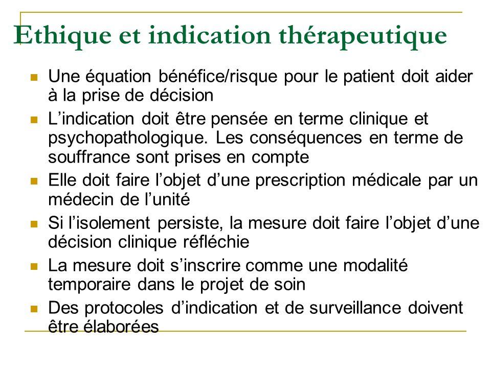 Ethique et indication thérapeutique