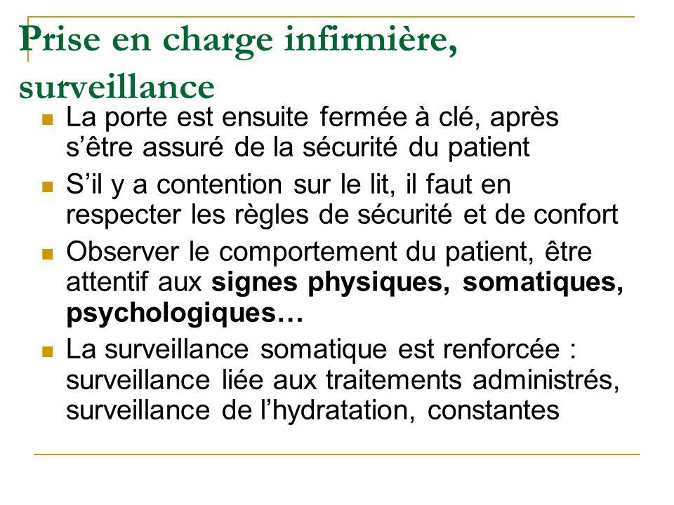 Prise en charge infirmière, surveillance
