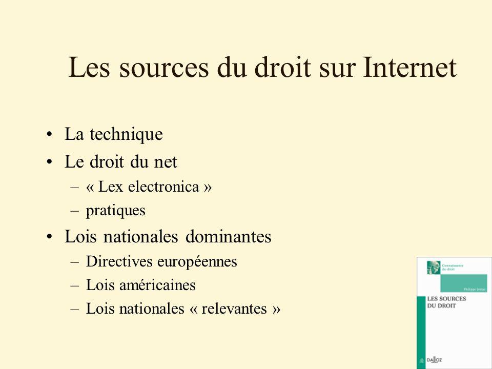 Les sources du droit sur Internet