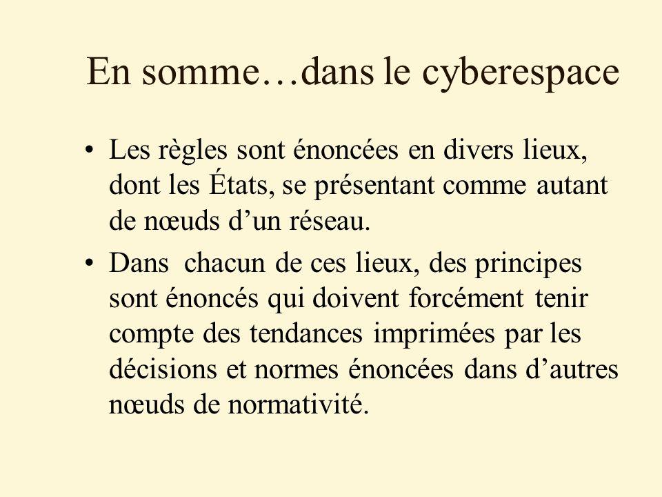 En somme…dans le cyberespace