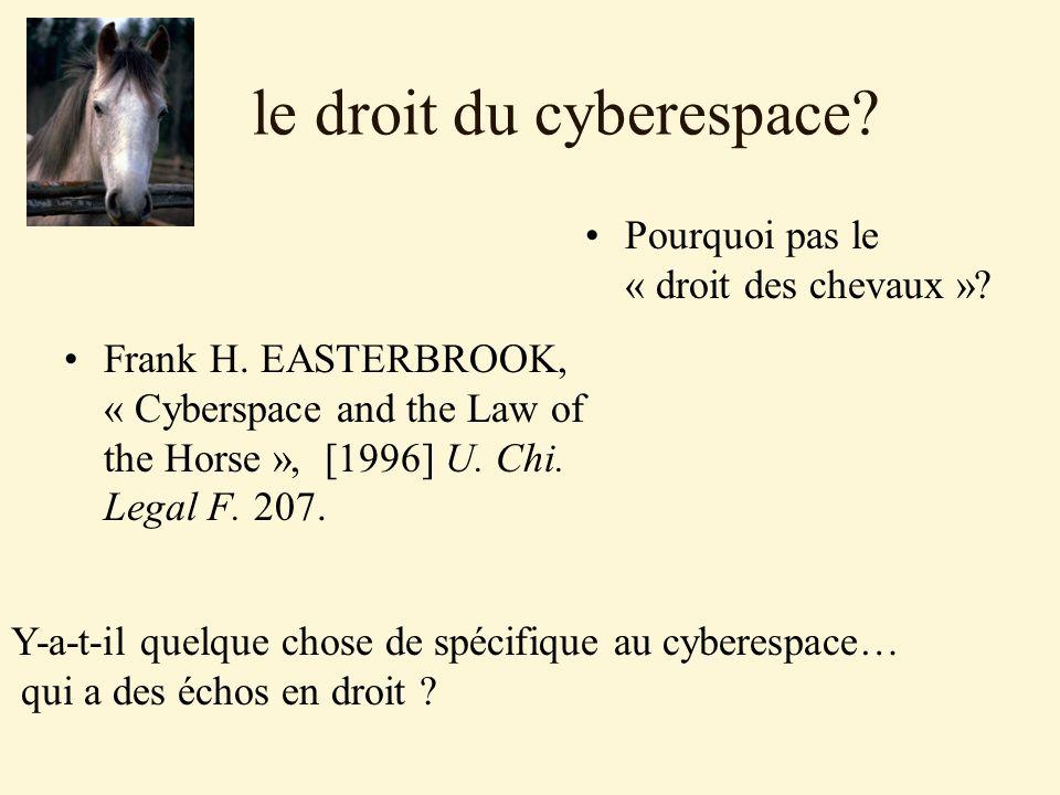 le droit du cyberespace