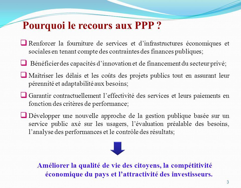 Pourquoi le recours aux PPP