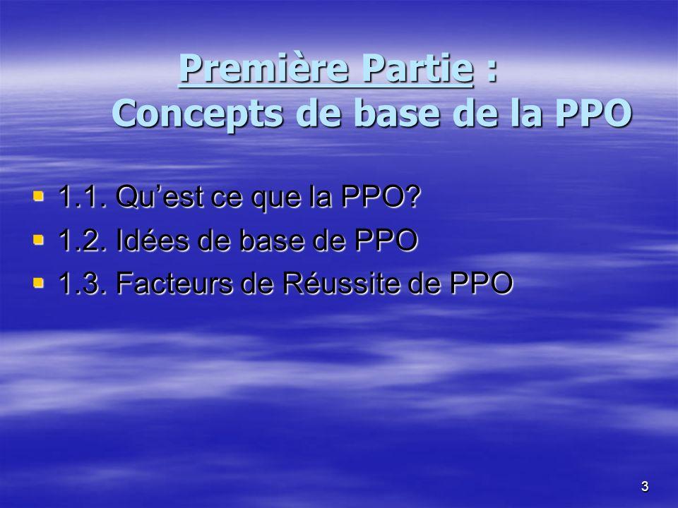 Première Partie : Concepts de base de la PPO