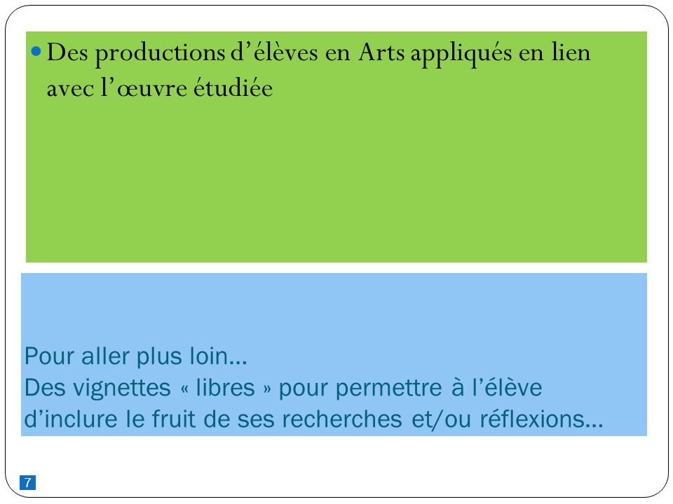 Des productions d'élèves en Arts appliqués en lien avec l'œuvre étudiée