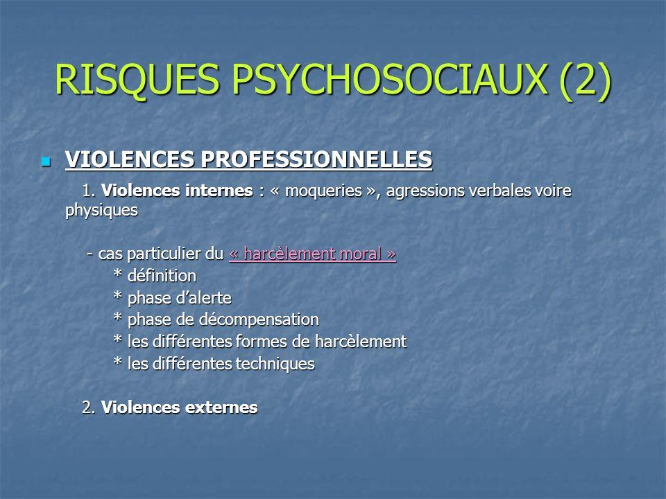 RISQUES PSYCHOSOCIAUX (2)