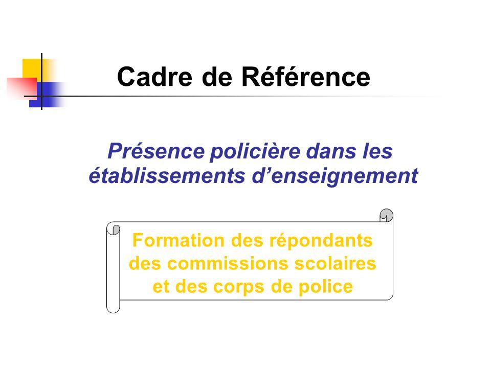 Cadre de Référence Présence policière dans les