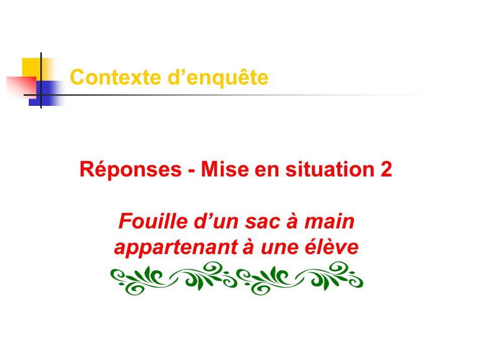 Réponses - Mise en situation 2
