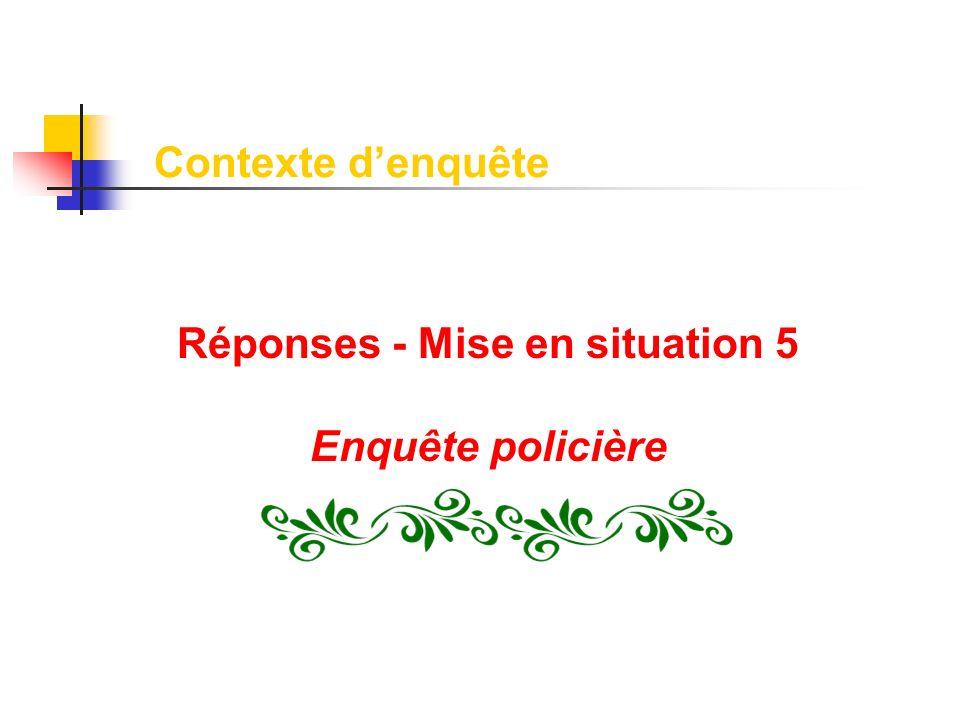 Réponses - Mise en situation 5